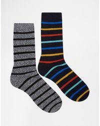 Jack & Jones | Gray 2 Pack Native Boot Socks for Men | Lyst