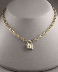 Roberto Coin - Appassionata Lock Pendant 18k Yellow Gold - Lyst