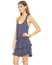 LoveShackFancy - Blue Racer Ruffle Mini Dress - Navy Ink - Lyst