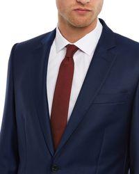 Jaeger - Orange Silk Wool Melange Tie for Men - Lyst