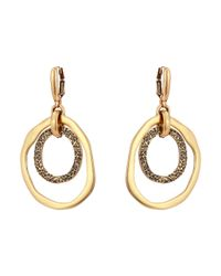 Oscar de la Renta | Green Circle P Earrings | Lyst
