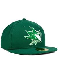 KTZ - Green San Jose Sharks C-dub 59fifty Cap for Men - Lyst