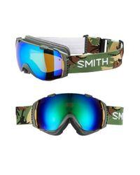 Smith Optics Green 'i/o' 185mm Snow Goggles - Disruption for men