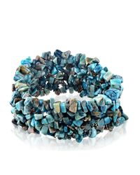 Lord & Taylor | Blue Agate Stacked Bracelet | Lyst