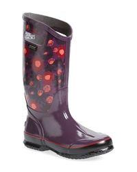 Bogs | Purple 'watercolor' Waterproof Rain Boot | Lyst