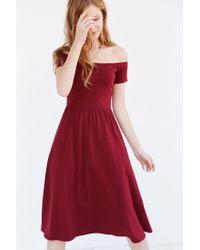 aeff432d2204 Kimchi Blue Off-the-shoulder Midi Dress in Purple - Lyst