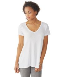 Alternative Apparel | White V-neck T-shirt | Lyst