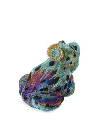 Judith Leiber Couture | Blue Crystal New Frog Prince Minaudiere | Lyst