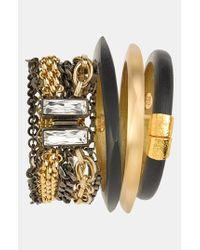 Alexis Bittar Black 'lucite' Small Hinged Bracelet