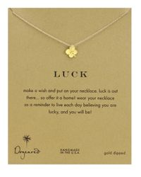 Dogeared Metallic Four Leaf Clover Charm Necklace