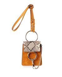 Chloé Yellow Faye Mini Cross-Body Bag