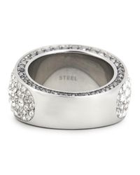 DKNY Metallic Pavé Crystal Embellished Ring
