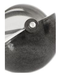 Bottega Veneta - Metallic Antiqued Sterling Silver and Rock Crystal Earrings - Lyst