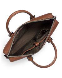 Michael Kors   Brown Large Front Zip Briefcase for Men   Lyst