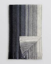 Bloomingdale's Black Ombré Stripe Scarf for men
