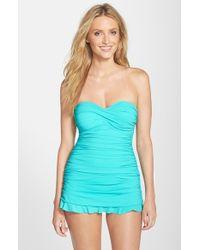 Gottex Blue 'tutti Frutti' Swim Dress