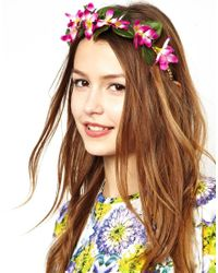 ASOS Purple Limited Edition Garden Flower Hairband