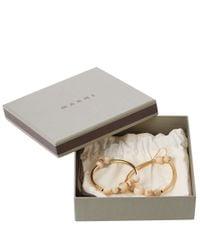 Marni - Metallic Gold-plated Horn Earrings - Lyst