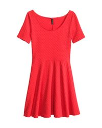 H&M Red Jersey Dress