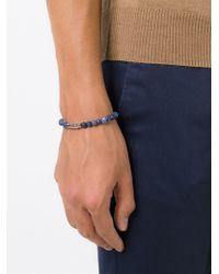 Tateossian | Blue Round Beaded Bracelet for Men | Lyst