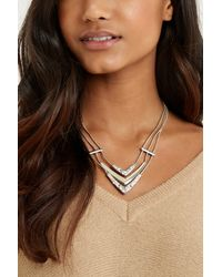 Oasis - Metallic 3 Chain Collar - Lyst