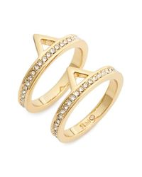 Rebecca Minkoff - Metallic Stackable Rings - Lyst