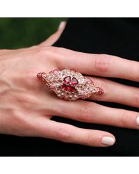 Wendy Yue - Pink White Sapphire Ring - Lyst