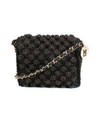 M Missoni - Black Knitted Cross Body Bag - Lyst