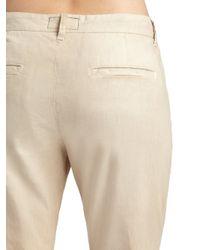 Current/Elliott - Natural The Buddy Lace-Trim Pants - Lyst