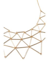 Forever 21 Metallic Cutout Geo Bib Necklace