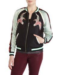Scotch & Soda - Multicolor Black Embroidered Bird Varsity Jacket - Lyst