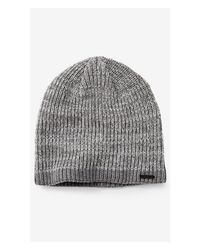 Express | Gray Marled Cotton Beanie for Men | Lyst