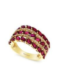 Effy | Red Diamond And Ruby 14k Yellow Gold Ring | Lyst