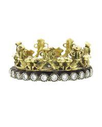 Armenta Blue Half Crown Ring