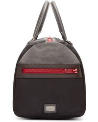 Dolce & Gabbana Black And Grey Duffle Bag for men