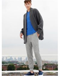 Raey Gray Wool And Cashmere-Blend Blanket Cardigan for men