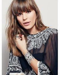 Free People | Metallic Dune Diamond Bracelet | Lyst