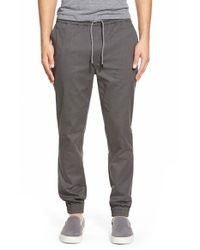 Volcom | Gray 'scouter' Jogger Pants for Men | Lyst