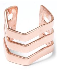 Maria Black | Pink Rose Gold-plated Trinity Ear Cuff | Lyst