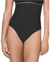 Yummie By Heather Thomson   Black High-waisted Thong Shaper   Lyst
