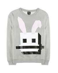 McQ - Gray Cotton Sweater - Lyst