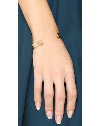 Kacey K - Metallic Kk Open Inital Bracelet - T - Lyst