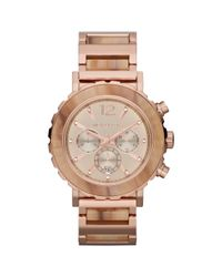 Michael Kors - Metallic Womens Chronograph Lille Sand Acetate and Rose Goldtone Stainless Steel Bracelet 45mm - Lyst