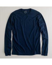 J.Crew | Blue Slim Broken-in Long-sleeve T-shirt for Men | Lyst