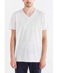 BDG - White Feeder Stripe Standard-fit V-neck Tee for Men - Lyst