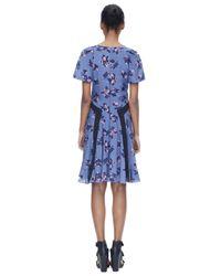 Rebecca Taylor Blue Alyssum Print Dress