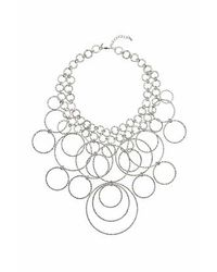 TOPSHOP | Metallic Mega Circles Collar | Lyst