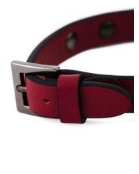 Valentino - Red 'Rockstud' Bracelet for Men - Lyst