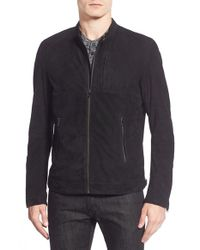 Lamarque | Black Suede Bomber Jacket for Men | Lyst