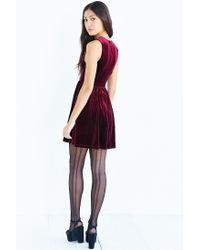 Lucca Couture | Purple Plunging Velvet Mini Dress | Lyst